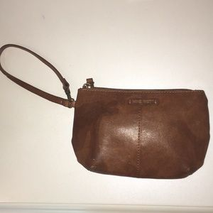 NINE WEST brown leather bag/wallet